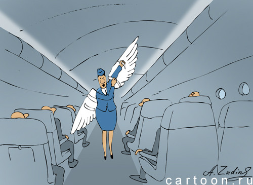 Карикатура: Предполетный инструктаж, Александр Зудин