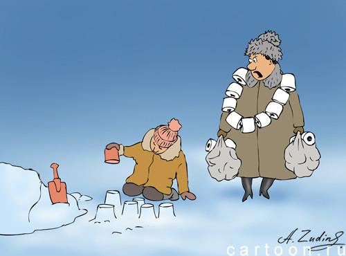Карикатура: Товар первой необходимости, Александр Зудин
