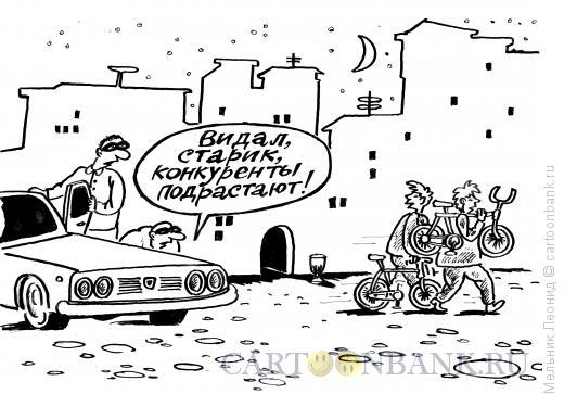 Карикатура: Смена, Мельник Леонид