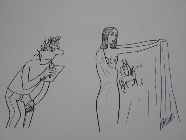 Карикатура: Женщина с покрывалом 21, Петров Александр