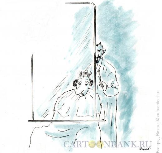 Карикатура: Нечистая сила не отражается в зеркале, Богорад Виктор