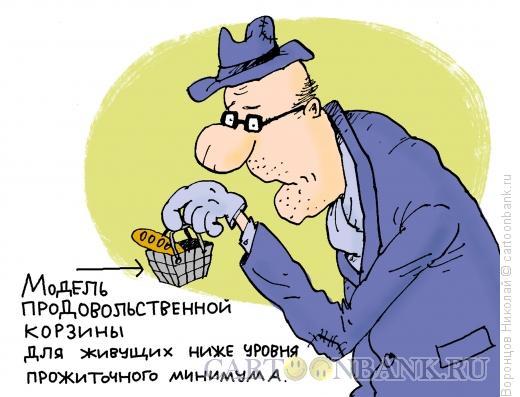 Карикатура: Потребительская корзина, Воронцов Николай