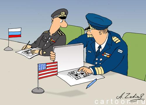 Карикатура: Морской бой, Александр Зудин