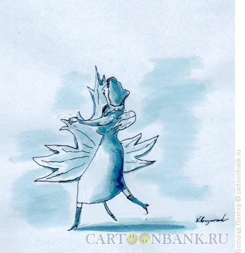 Карикатура: Осенний вальс, Богорад Виктор