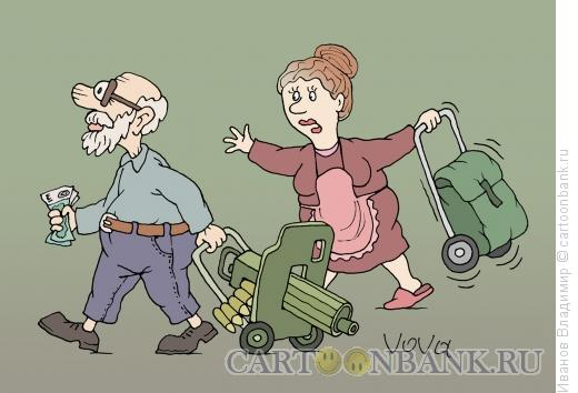 Карикатура: Перепутал, Иванов Владимир