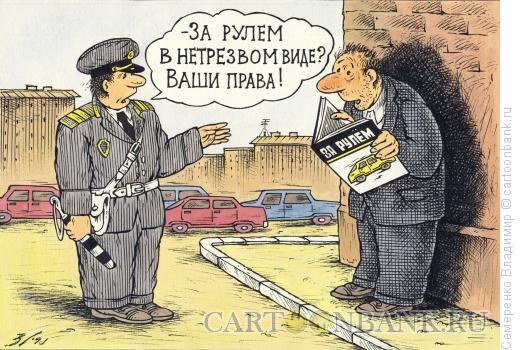 Карикатура: Проверка документов, Семеренко Владимир