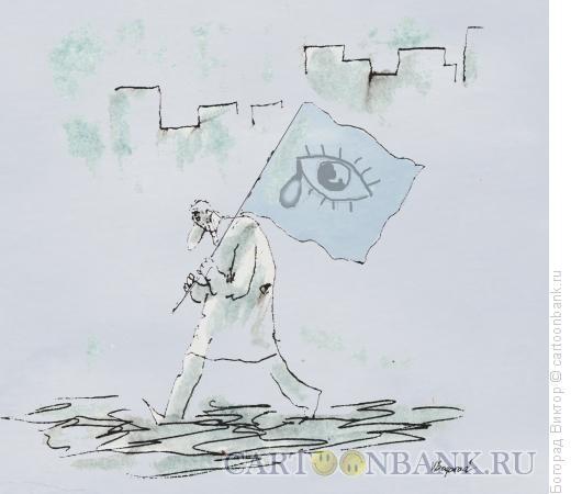 Карикатура: Представитель партии пессимистов, Богорад Виктор