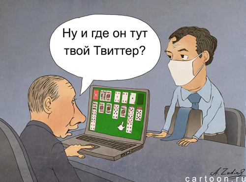 Карикатура: твиттер, Александр Зудин