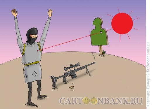 Карикатура: На прицеле, Тарасенко Валерий