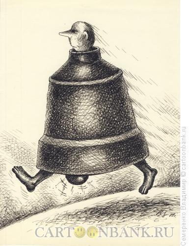 Карикатура: Ходячий колокол, Семеренко Владимир