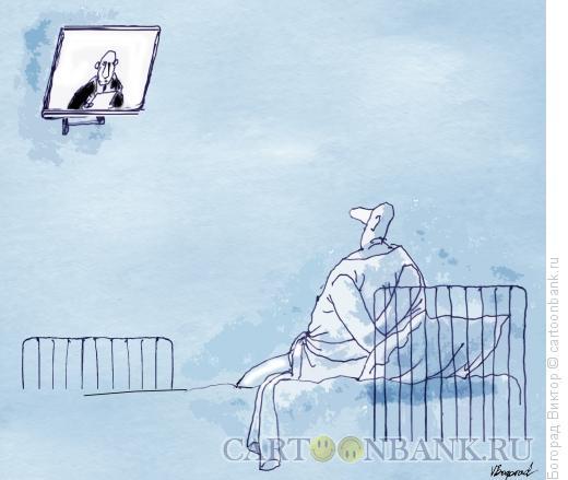 Карикатура: Телевизор для сумасшедшего, Богорад Виктор