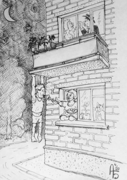 Карикатура: Милосердие, backdanov