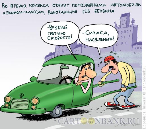 Карикатура: Эконом-авто, Воронцов Николай