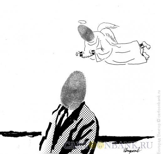 Карикатура: Криминал и его ангел, Богорад Виктор