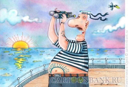 Карикатура: Пузо восходящего солнца, Наместников Юрий
