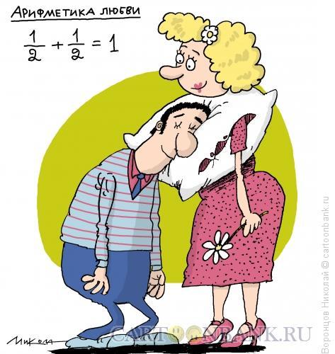 Карикатура: Арифметика любви, Воронцов Николай