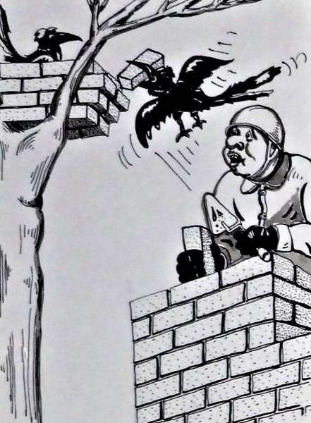 Карикатура: Стройка, backdanov