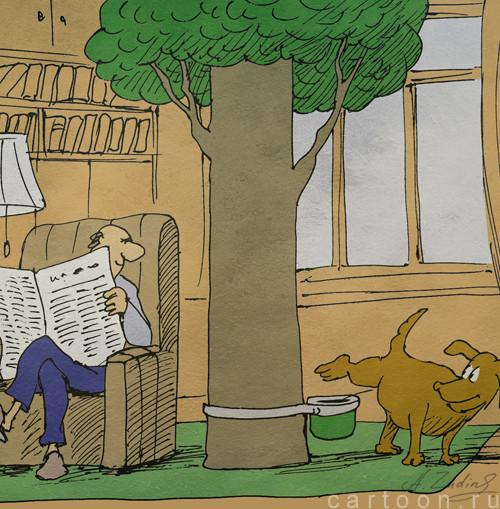 Карикатура: Писаем дома, Александр Зудин