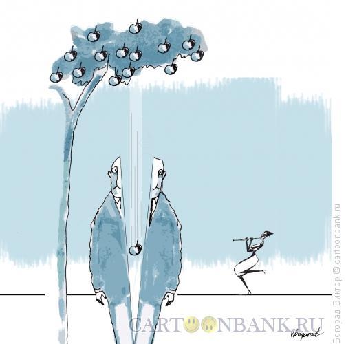 Карикатура: Современный Адам и Ева, Богорад Виктор