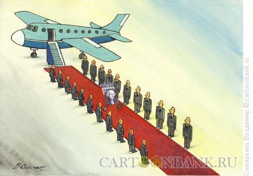 Карикатура: Долгожданный гость, Семеренко Владимир