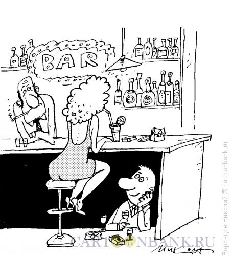 Карикатура: В баре, Воронцов Николай