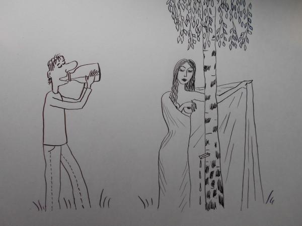 Карикатура: Берёзовый сок, Петров Александр