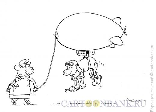 Карикатура: Дирижабль, Воронцов Николай