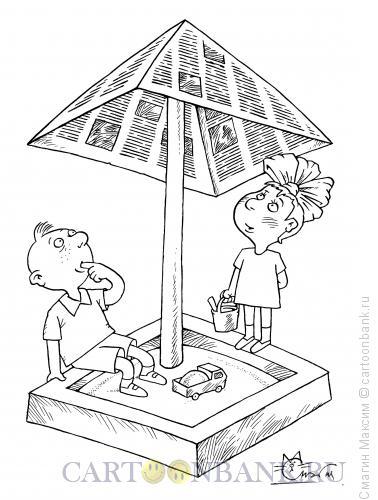 Карикатура: Детские новости, Смагин Максим