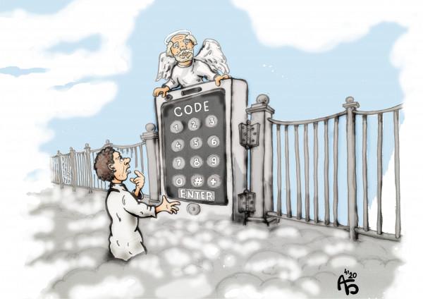 Карикатура: Пароль, backdanov