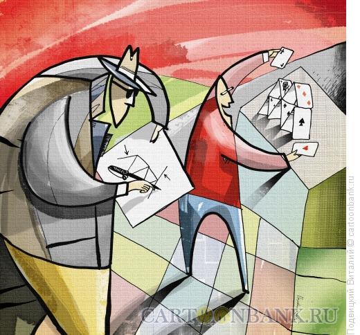 Карикатура: Промышленный шпионаж, Подвицкий Виталий