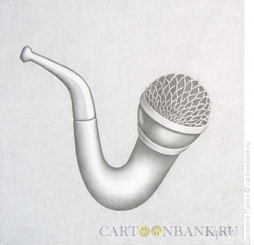 Карикатура: трубка-микрофон, Далпонте Паоло