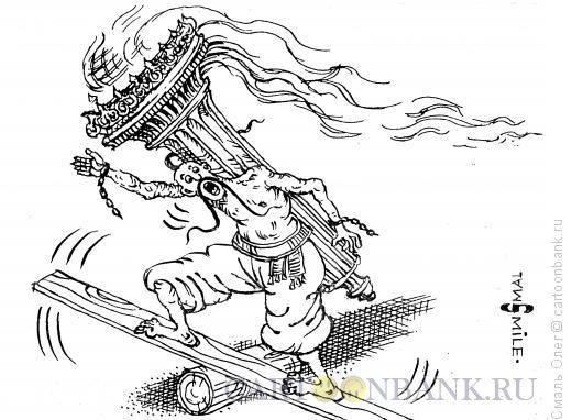 Карикатура: Украина и факел свободы., Смаль Олег