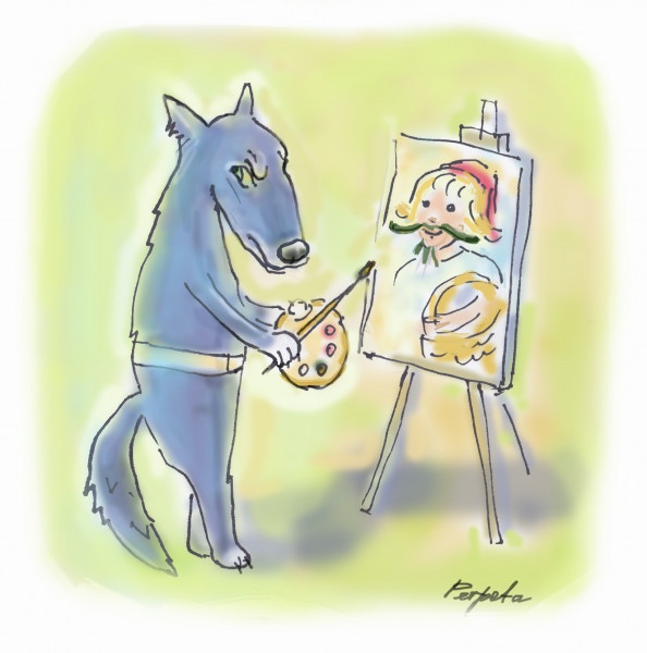 Карикатура: Волк., Perpeta
