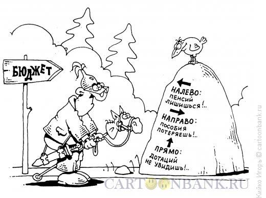 Карикатура: Чиновник на распутье, Кийко Игорь