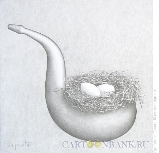 Карикатура: трубка-гнездо, Далпонте Паоло