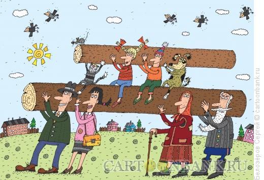 Карикатура: Субботник, Белозёров Сергей