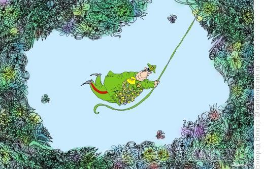 Карикатура: Тарзан, Богорад Виктор