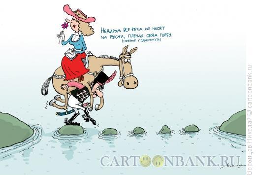 Карикатура: Гусар и дама, Воронцов Николай
