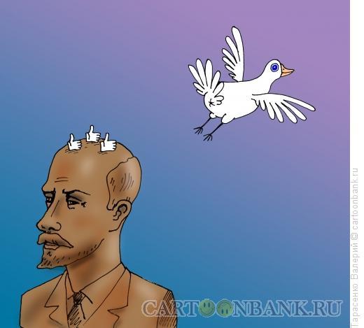 Карикатура: Лайки на бюсте, Тарасенко Валерий