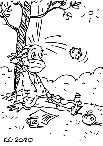 Карикатура: Первый закон короновируса, Вячеслав Капрельянц