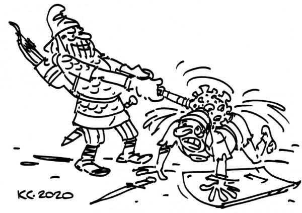 Карикатура: Секретное оружие, Вячеслав Капрельянц