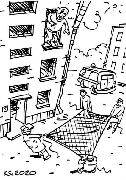 Карикатура: Спасательная повязка, Вячеслав Капрельянц