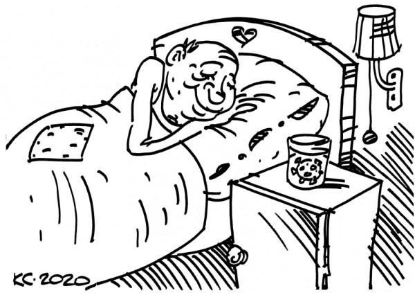 Карикатура: Спи спокойно, дорогой друг, Вячеслав Капрельянц