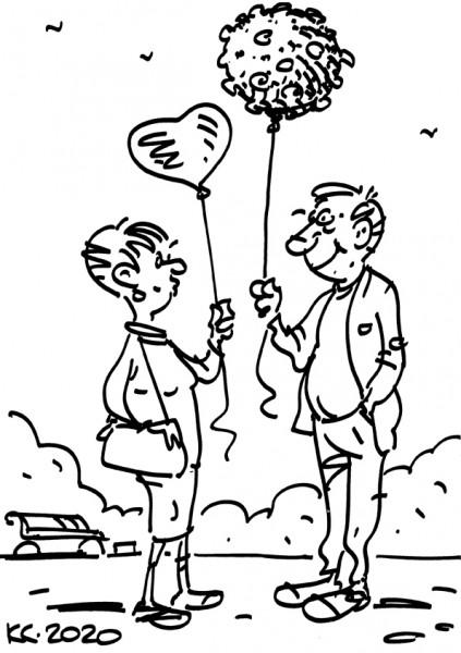 Карикатура: Воздушные шарики, Вячеслав Капрельянц