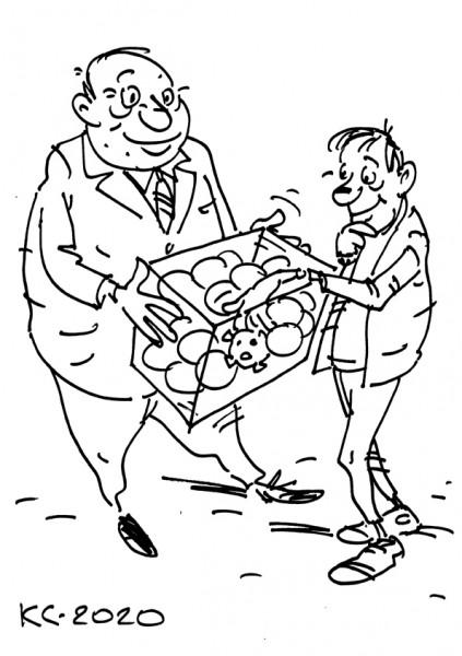 Карикатура: Выигрышный шар, Вячеслав Капрельянц