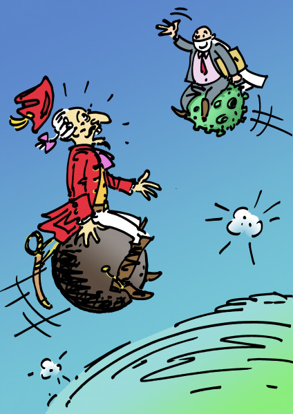 Карикатура: Барону и не снилось!, Вячеслав Капрельянц
