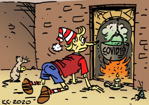 Карикатура: Очаг заражения, Вячеслав Капрельянц