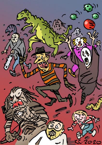 Карикатура: Спасайся кто может!, Вячеслав Капрельянц