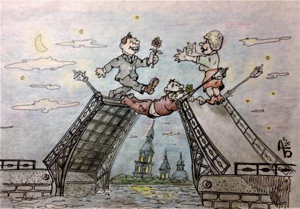 Карикатура: Кто первый, backdanov