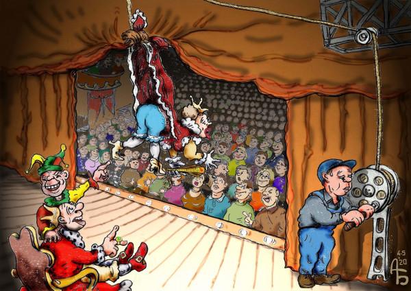 Карикатура: Шуточка, backdanov